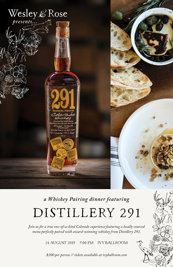 Surf Hotel and Distillery 291 Whiskey Pairing Dinner