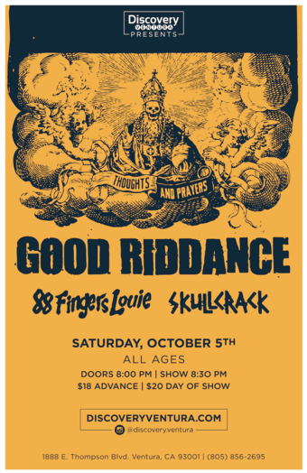 Numbskull Presents - Good Riddance x 88 Fingers Louie x Skull Crack at Discovery Ventura