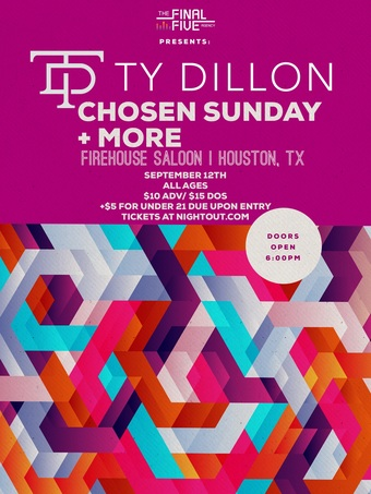 Chosen Sunday, Ty Dillon + more