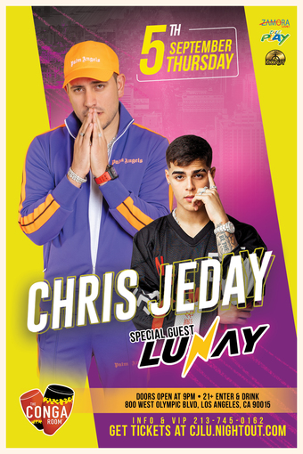 Conga Room presents Chris Jeday w/ special guest LUNAY