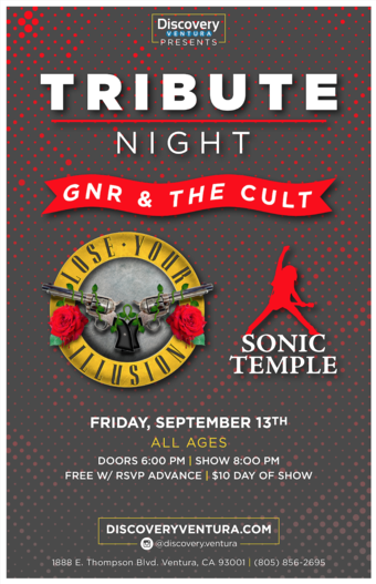 Tribute Night Guns N Roses & The Cult at Discovery Ventura