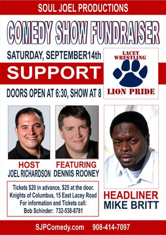 Lacey Wrestling Comedy Fundraiser