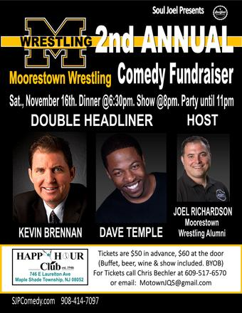2nd Annual Moorestown Wrestling Comedy Fundraiser