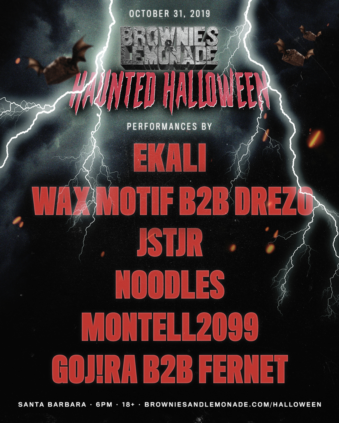 Rave In Arlington Halloween 2020 Brownies & Lemonade Haunted Halloween 10.31.19   Tickets