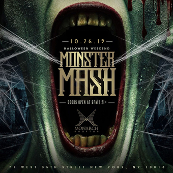 Monster Mash Halloween Party @ Monarch Rooftop Saturday 10/26
