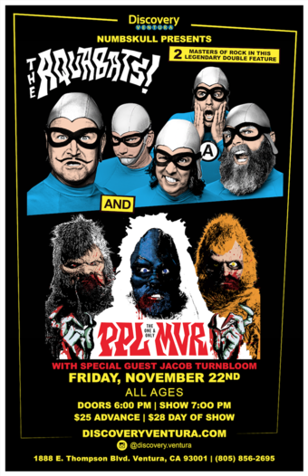 "Numbskull presents The Aquabats with special guests PPL MVR and ""TBD"" at Discovery Ventura"