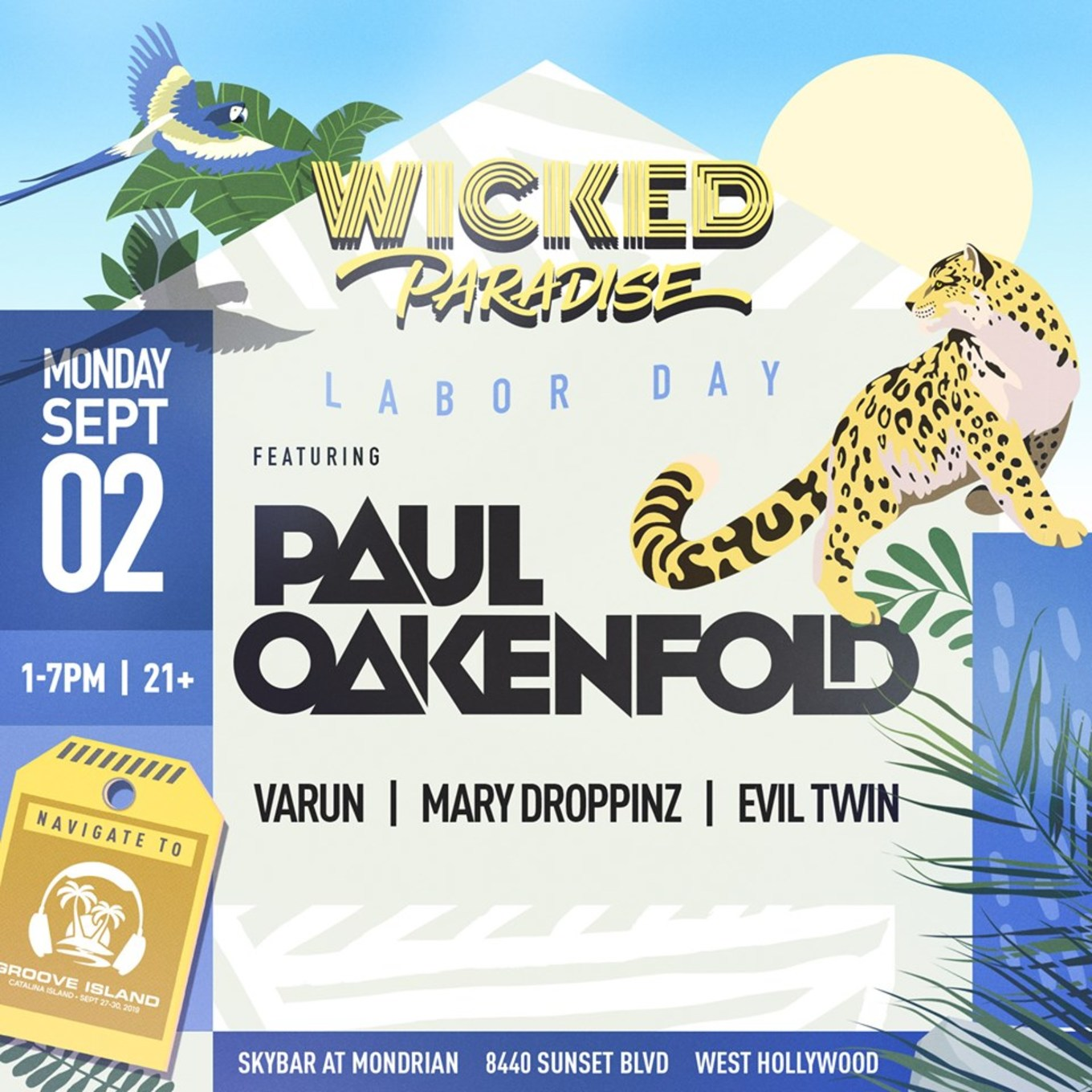 Wicked Paradise ft  Paul Oakenfold POOL PARTY & BBQ