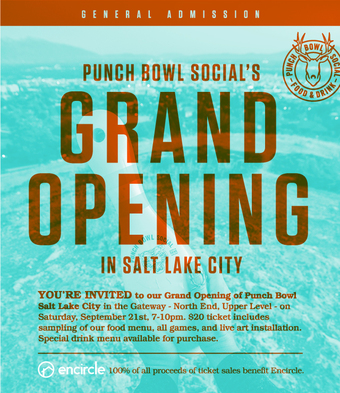 Punch Bowl Social SLC Grand Opening
