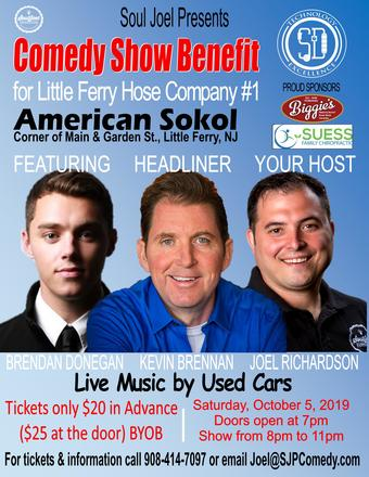 9th Annual Little Ferry Fire Hose #1 Comedy Fundraiser