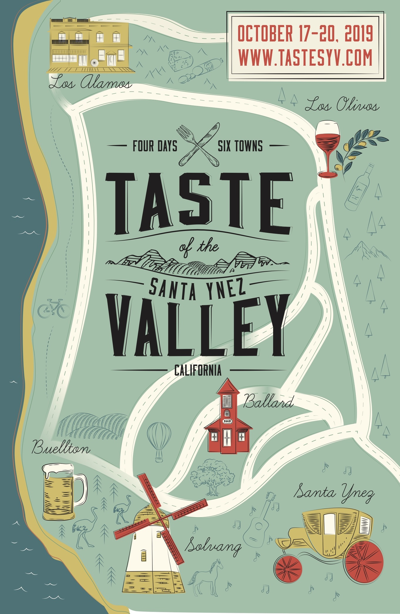 Taste of the Santa Ynez Valley - Tickets - Santa Ynez Valley ... on lompoc wine trail map, amador wineries map, san ynez map, el dorado county wineries map, california ava map, sta rita hills appellation map, sonoma winery map, sonoma valley map, buellton wineries map, solvang map, augusta mo wineries map, best santa barbara wineries map, fair play wineries map, lompoc wineries map, monterey wineries map, los olivos map, napa valley wineries map, morro bay wineries map, santa rita hills map, montana state parks map,