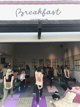 Silent Yoga at Breakfast Culture Club