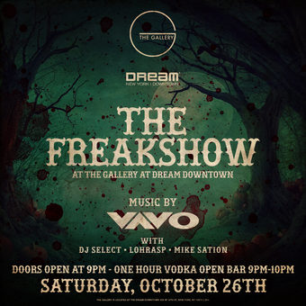 The Freakshow Halloween at The Gallery Dream Downtown