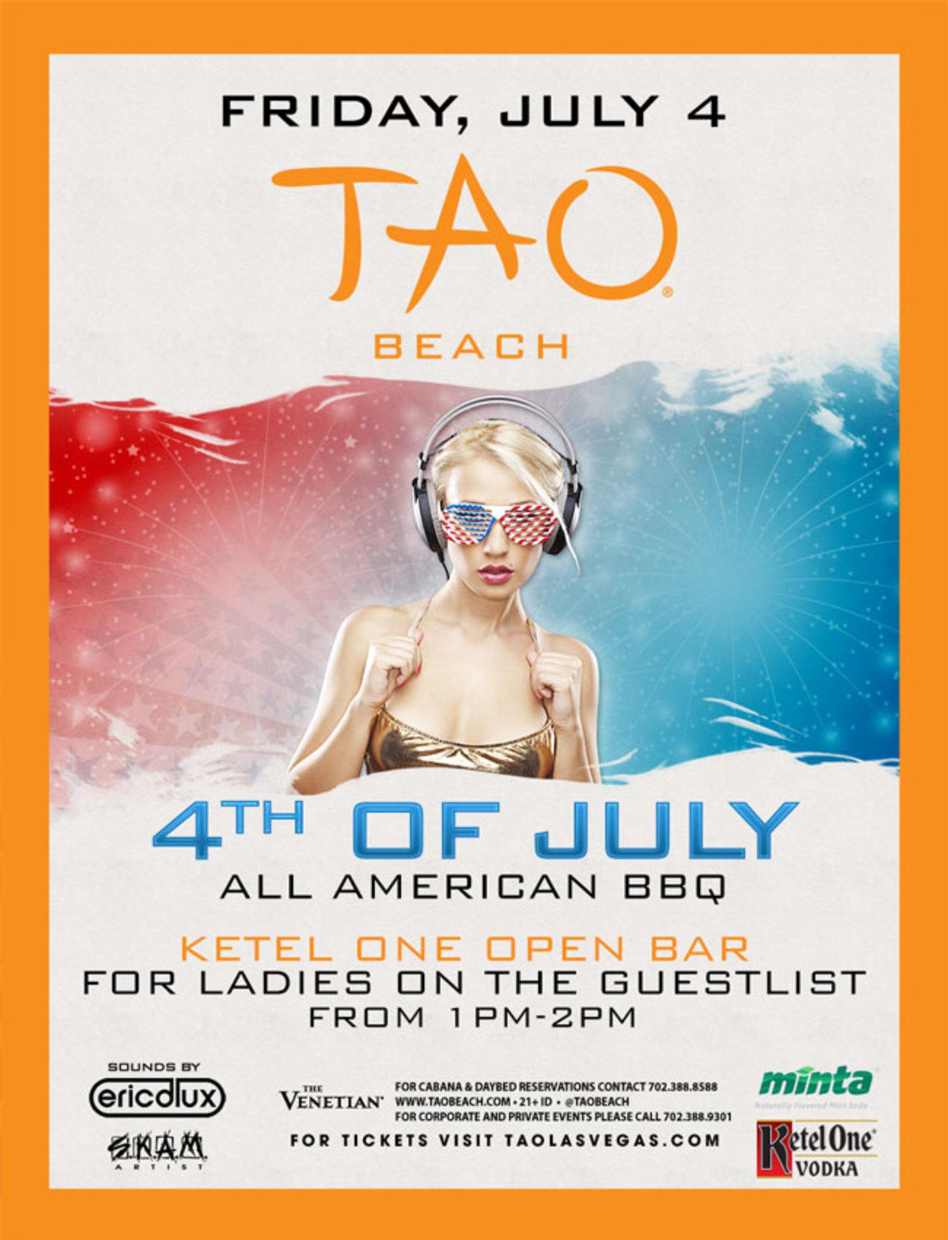 4th of July BBQ - TAO Beach - Tickets - TAO Beach, Las Vegas