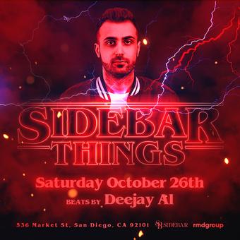Side Bar Things Halloween 2019
