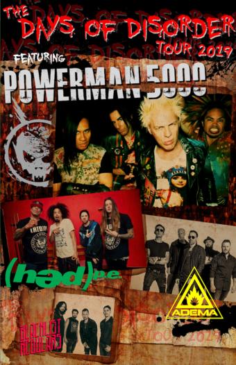 POWERMAN 5000 The Days of Disorder Tour