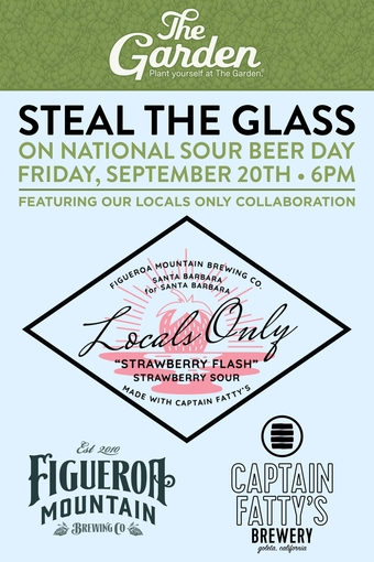Steal the Glass on National Sour Beer Day at The Garden