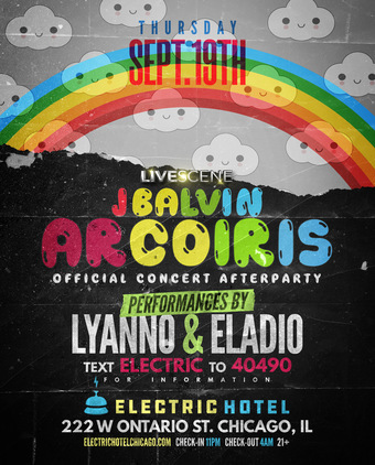 J Balvin Official Concert Afterparty at Electric Hotel