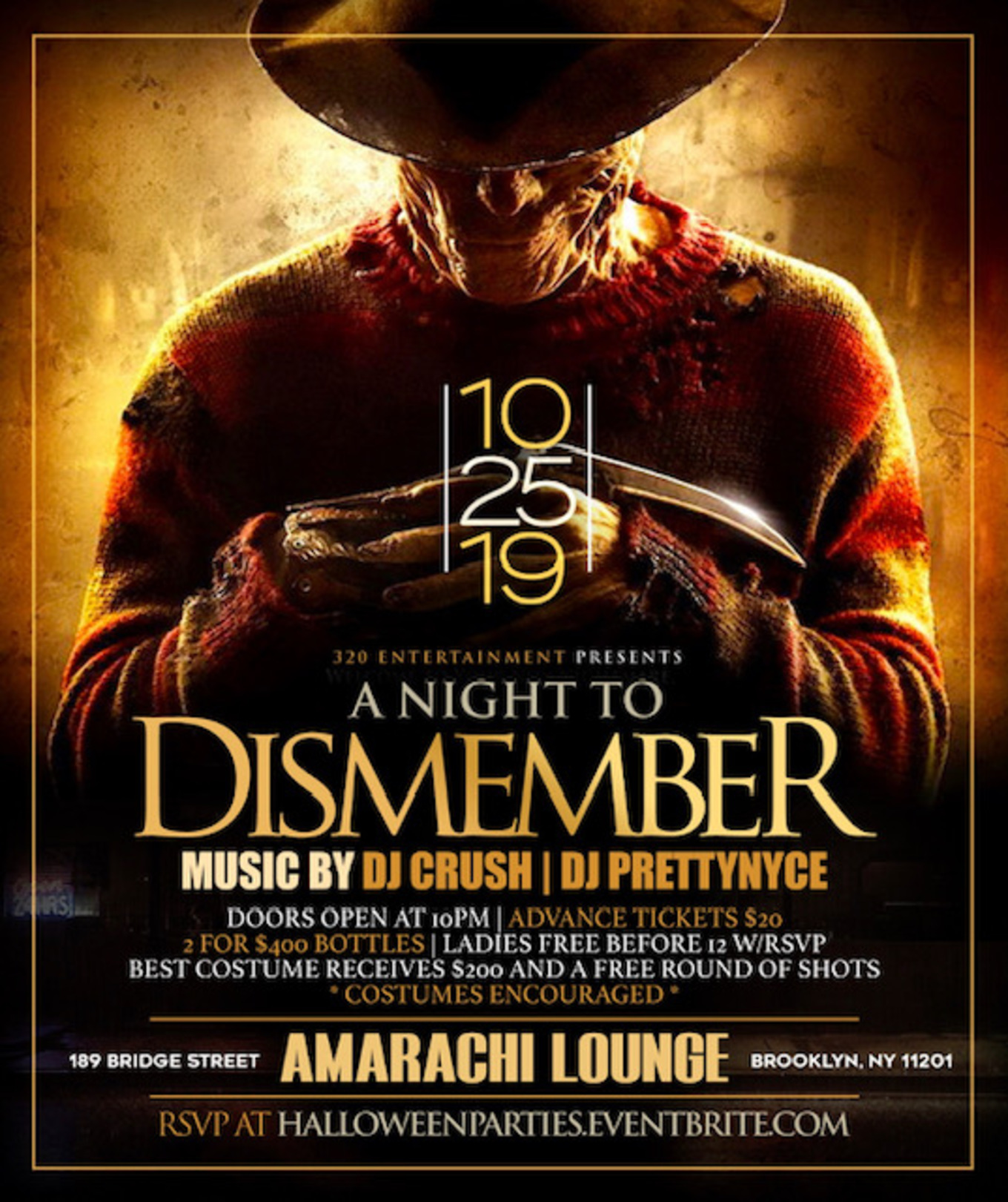 A Night To Dismember Halloween Party Tickets Amarachi