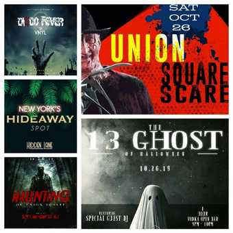 Union Square Halloween Party Pass To 4 Venues!!!