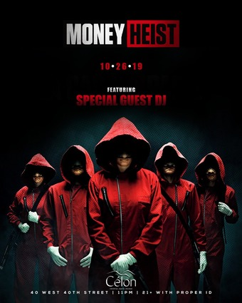Money Heist at Célon Halloween - Saturday 10/26