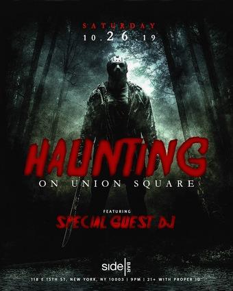 Haunting on Union Square at SideBar Halloween Oct 26