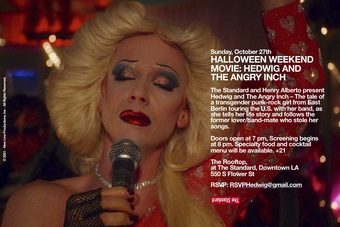 Halloween Weekend Movie: Hedwig and The Angry Inch
