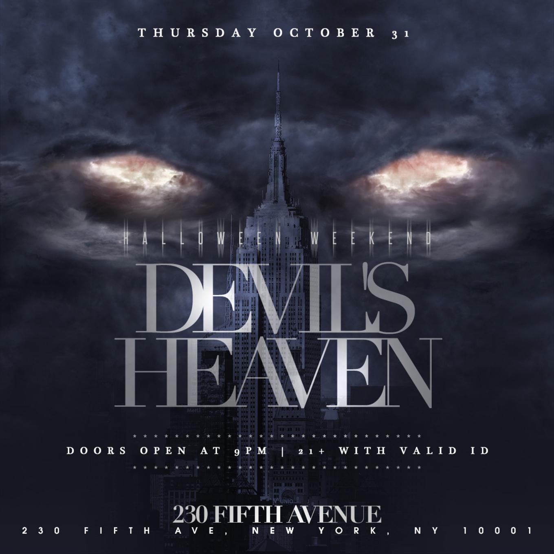 230 Fifth Halloween 2020 230 Fifth Rooftop Halloween Devil's Heaven 10/31   Tickets   230