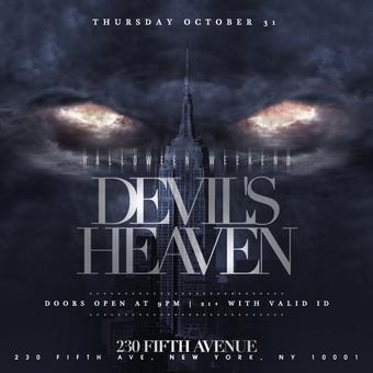 230 Fifth Rooftop Halloween Devil's Heaven 10/31