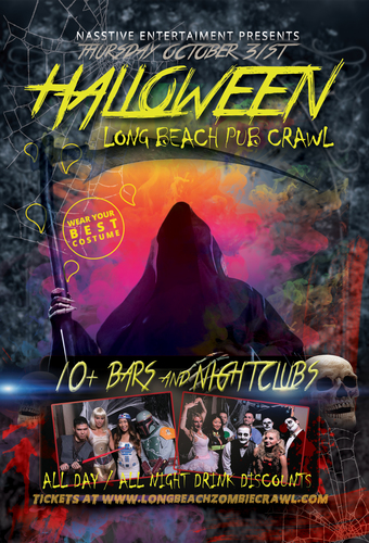 Long Beach Halloween Night Pub Crawl - Oct. 31st