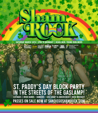 San Diego's #1 St. Patrick's Day Outdoor Block Party 2020 - See Below for Important Updates & Information