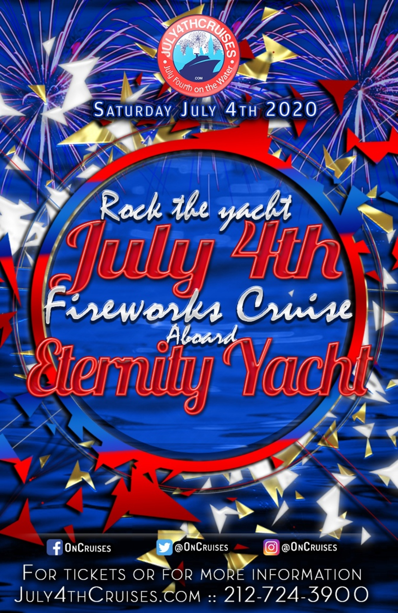 July 4th Events Near Me 2020.Rock The Yacht July 4th Fireworks Cruise Aboard The Eternity