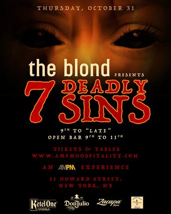 The Blond Halloween 7 DEADLY SINS