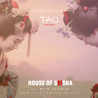 House Of Geisha - Halloween At Tao Nightclub