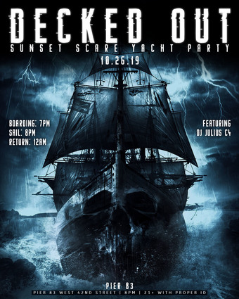 Decked Out Sunset Scare Yacht Party 10/26