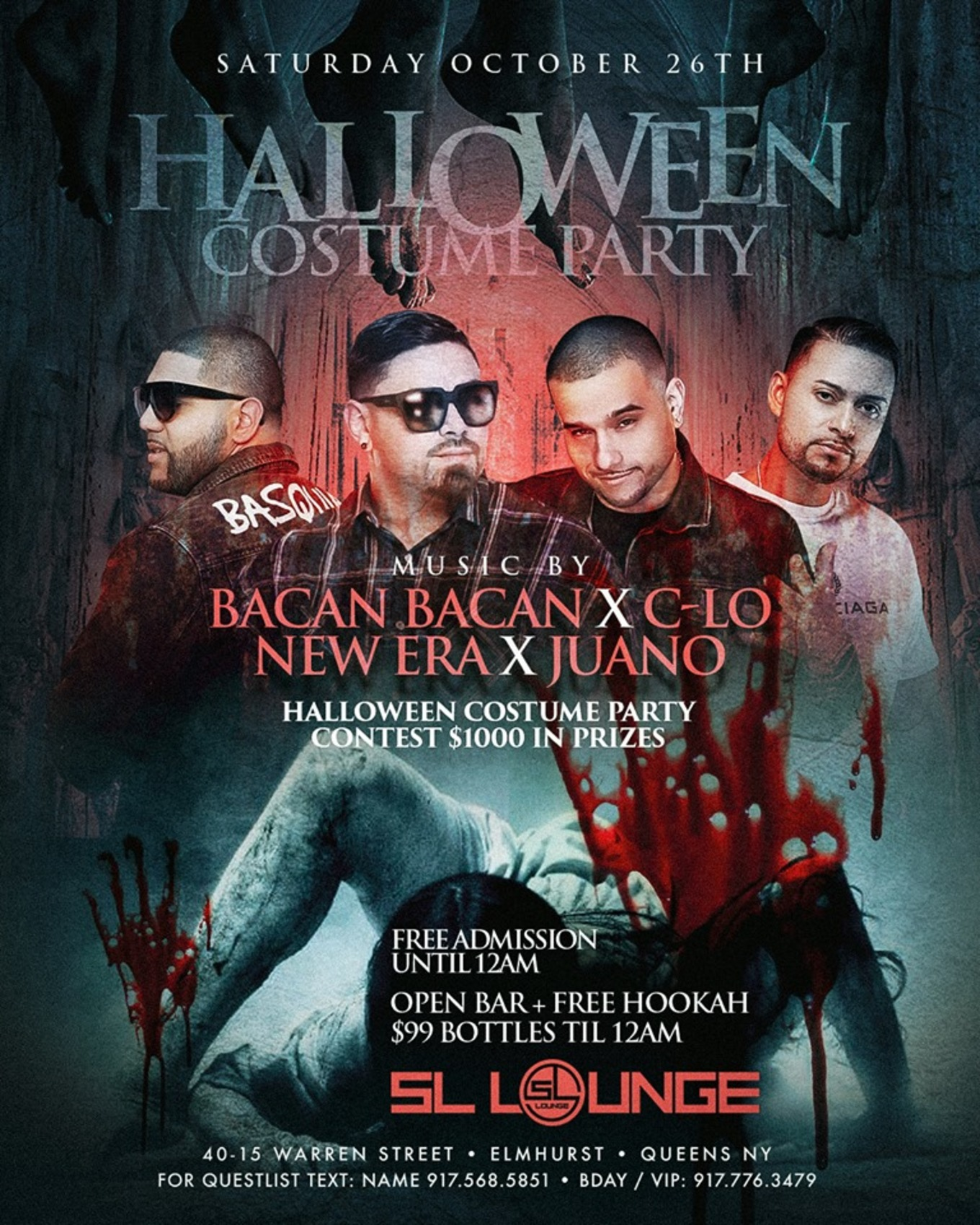 Halloween Costume Party At Sl Lounge Tickets Sl Lounge