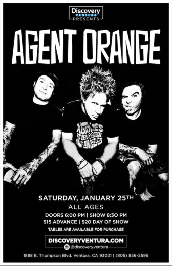 Agent Orange with Special Guests TBD at Discovery Ventura