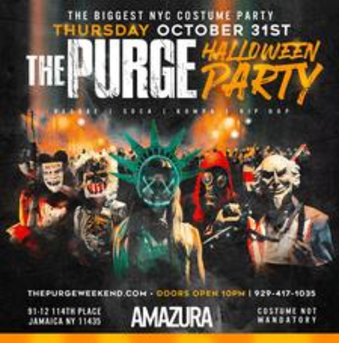 Halloween Party The Purge At Amazura Tickets Amazura