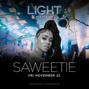 Saweetie at LIGHT Vegas