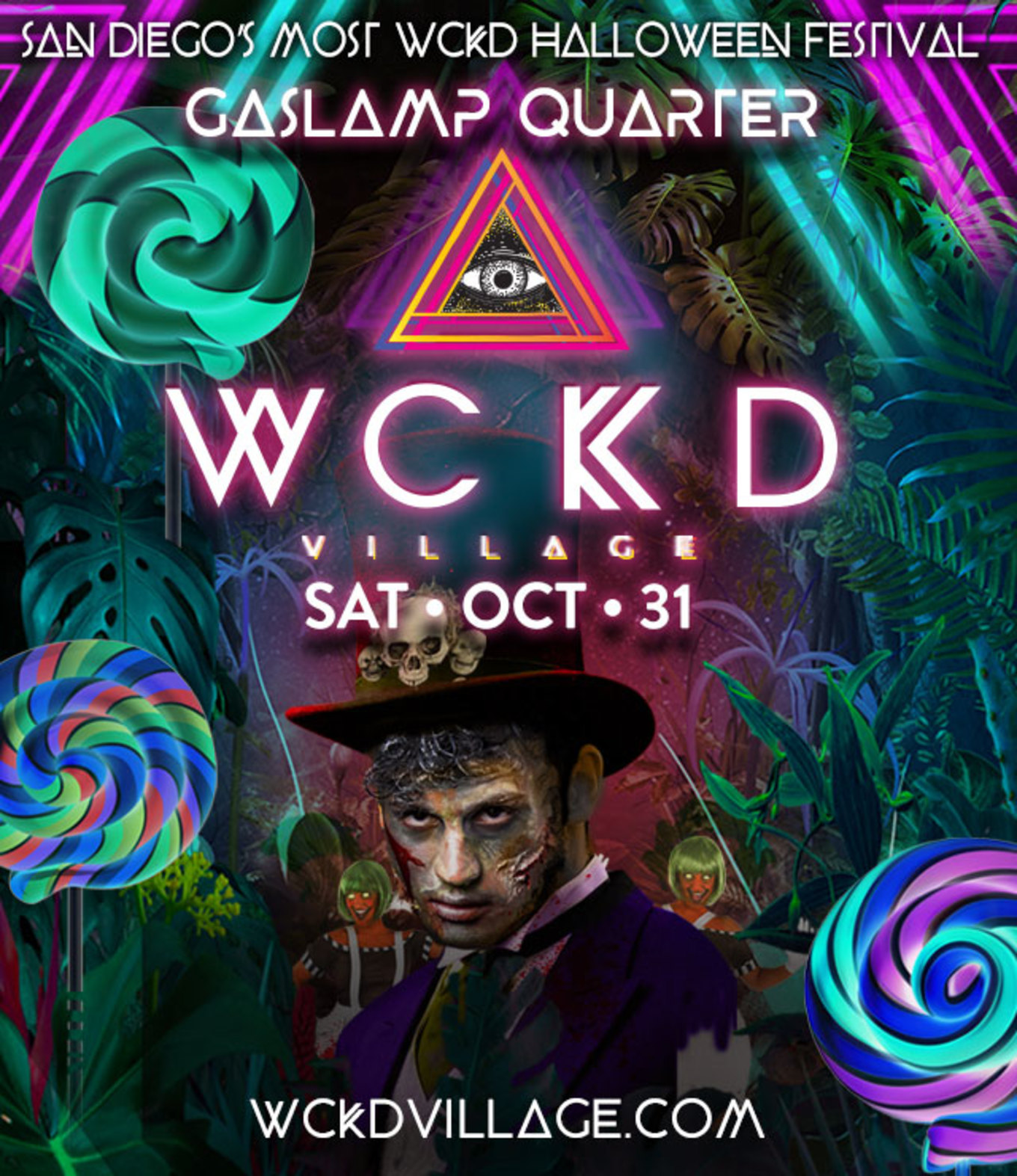 Halloween San Diego 2020 WCKD Village 2020: Halloween Music Festival   Tickets   Downtown
