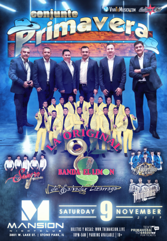 Conjunto Primavera y Original Banda Limon at Mansion Nightclub