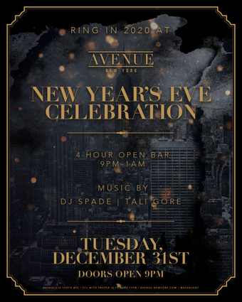 New Year's Eve Celebration at Avenue