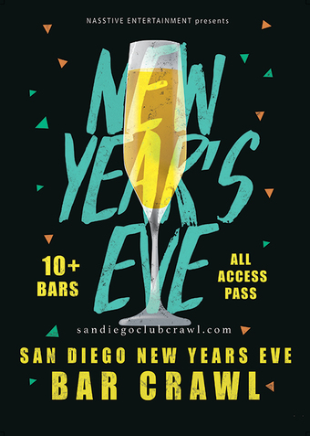 New Years Eve 2020 San Diego Bar Crawl - NYE All Access Pass to 10+ Venues