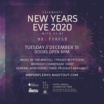 New Year's Eve 2020 at Mr. Purple