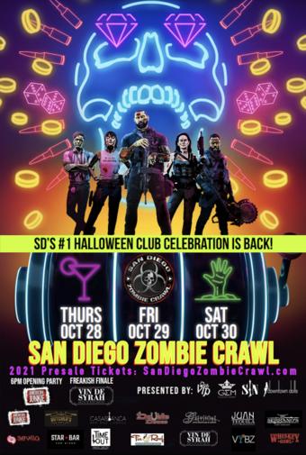 2021 Halloween San Diego Zombie Crawl