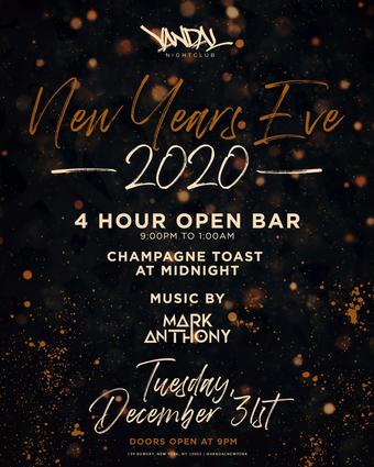 VANDAL Nightclub NYE 2020