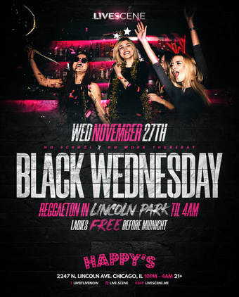 Black Wednesday at Happys Bamboo Bar (21+)