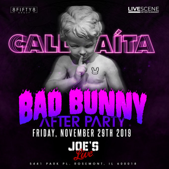 Bad Bunny Afterparty at Joes Live (21+)
