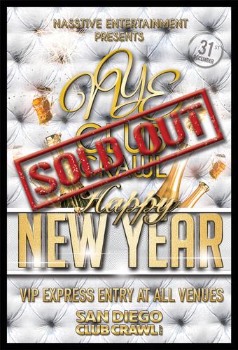 New Years Eve 2020 San Diego Club Crawl to OMNIA