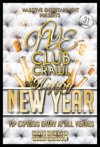 New Years Eve 2020 San Diego Club Crawl to BASSMNT