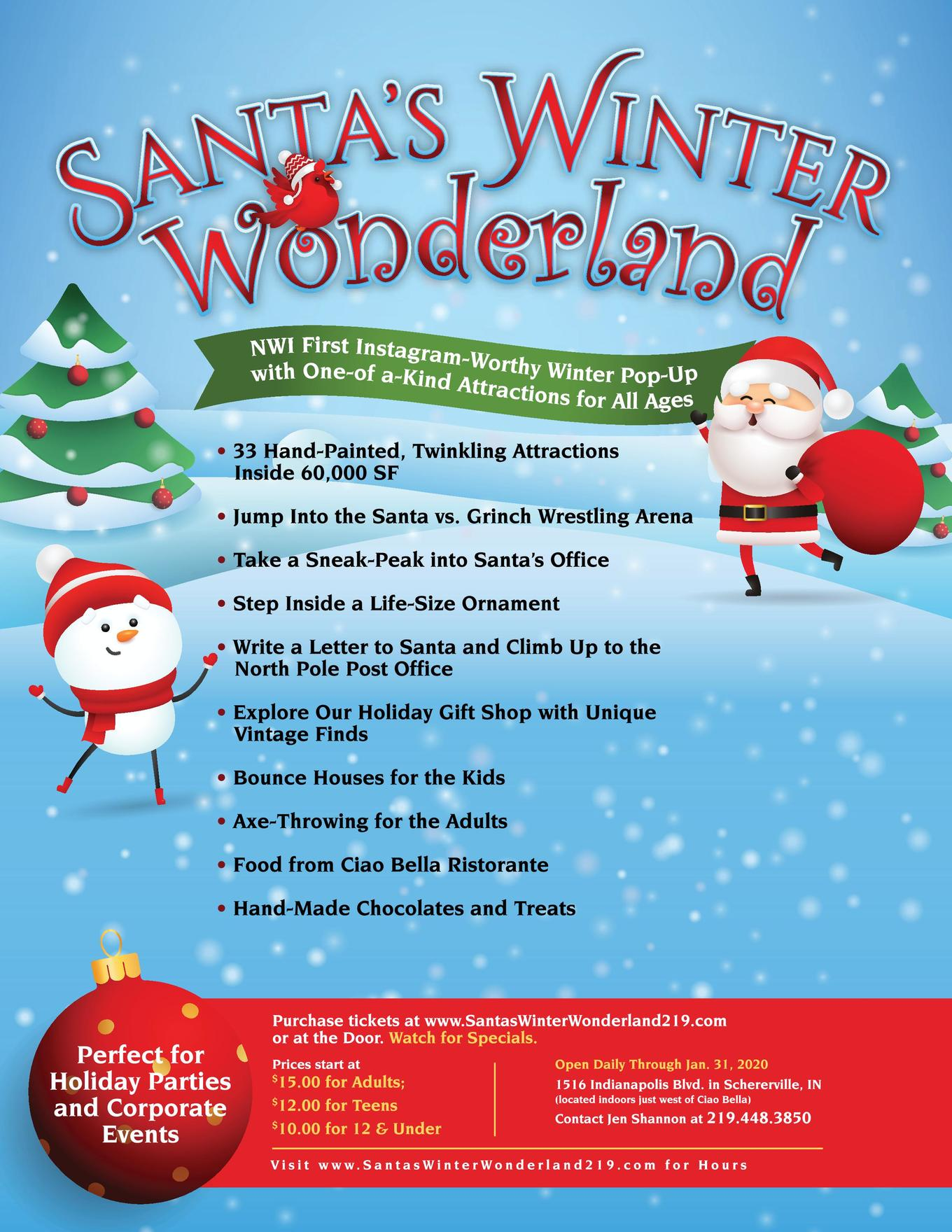 Christmas Events In Indianapolis 2020 Santa's Winter Wonderland   January   Tickets   January 1, 2020